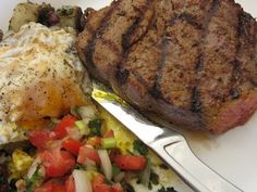 breakfast steak is typically a thin steak that is cooked quickly and served with eggs and potatoes. While the seasonings are endless, this flavorful breakfast steak relies on paprika, soy sauce, and plenty of garlic powder. Grill it up alongside a fried egg and potatoes for a truly memorable breakfast.