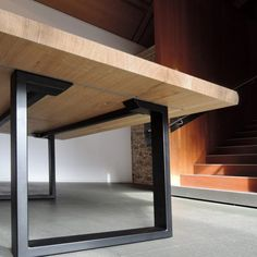 Table URBAINE The U-foot is a classic of the steel and solid wood table. The Urban table is a safe bet, a timeless design and. Steel Furniture, Farmhouse Furniture, Home Decor Furniture, Furniture Plans, Table Furniture, Rustic Furniture, Furniture Design, Furniture Stores, Cheap Furniture