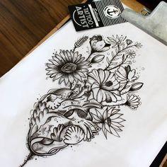 Do coração nasce rosas, flores e tudo de bom. #tattoo #tatuagem #desenho #drawing #arte #art