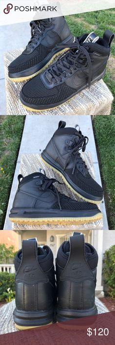 Nike Lunar Force Duck boot Black Men's Nike OG Pair of Lunar force 1s in black colo / in EUC no box / water shield / outer soles is intact / 10/10 condition / no rips  / some light blemishes from moving around home / need more pick let me know  / l Nike Shoes Sneakers