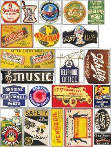Vintage Tin Signs, Vintage Tins, Vintage Labels, Vintage Posters, Retro Vintage, Ho Scale Train Layout, Model Train Layouts, Train Posters, Billboard Signs