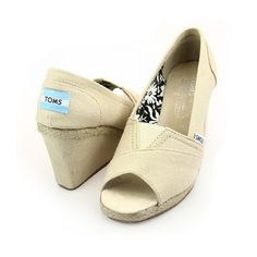Toms Womens Wedges Shoes Beige