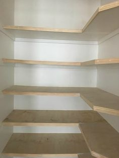 Diy pantry organization – Plywood shelves – Shelves – Pantry shelf – Diy pantry – Small space Best Picture For tidy up playroom For Your … Plywood Shelves, Pantry Shelving, Under Stairs Pantry, Pantry Remodel, Shelves, Small Space Diy, Diy Wood Shelves, Kitchen Pantry Design, Closet Remodel