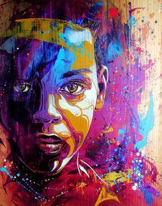 Christian Guémy, também conhecido como C215, é um artista de rua parisiense focado em stencil graffiti.