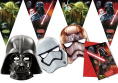 Ciao Y2534 - Kit Party Accessori Festa Star Wars per 12 Persone (26 Pezzi: 12 Inviti con Busta, 12 Mascherine, 2 Filari Bandierine): Amazon.it: Giochi e giocattoli