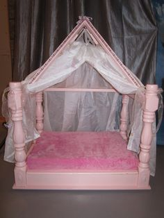Princess Canopy Bed & Pink Marie Antoinette Canopy Pet Bed | Beds for Piper | Pinterest ...