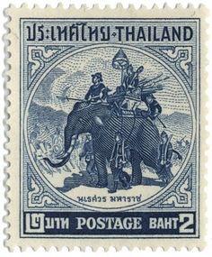 Thai elepant postage