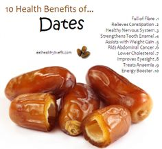 10 Health Benefits of DATES <3 ;)*