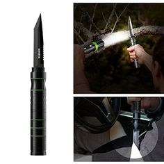 Kootek Tactical Flashlight Knife K1 Multifunctional Self Defense Survival Knife with LED Rechargeable Adjustable Torch Emergency Light for Vehicle Camping Outdoor
