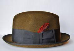 Зелена шапка тип Федора/ Green Fedora Hat EWMcCall on Etsy, $129.00