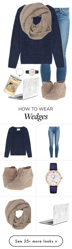 """Normal2"" by mgropp on Polyvore featuring moda, Paige Denim, American Vintage, Sophia Kokosalaki, Kate Spade, TOMS y Yankee Candle"