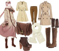 Russia - Hetalia, created by Orijans on Polyvore Since I've married a Russian, I feel like I'm required to love Russia. Somehow. ... Also, trenchcoats are beautiful.