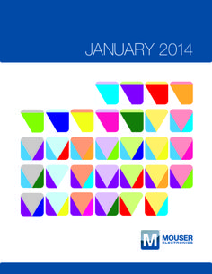 Enjoy this color-coded January Calendar from Mouser Electronics! You can download a print version here: http://mou.sr/1ddQmT5