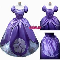 Christmas Adult For Disney Princess Sofia Cosplay Costume Custom Made DS92