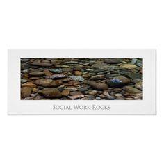Social Work  Rocks Poster by SocialWorkArt