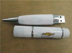 Chevrolet corporate gifts white pen drive www.carausb.com