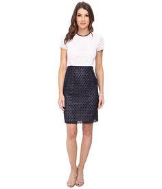 Calvin Klein Eyelet Sheath Dress