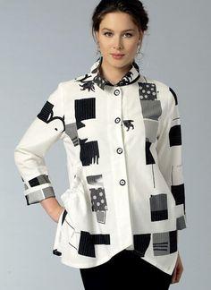 V9153 | Misses' Side-Drawstring Shirts | Vogue Patterns