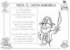Mi grimorio escolar: POESÍA: EL PIRATA BARBARROJA Pirate Decor, Flipped Classroom, Pirate Party, Reading Activities, Summer School, Teaching, Education, Comics, Memes