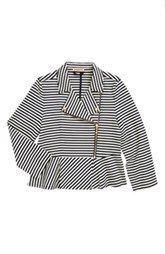 Juicy Couture Stripe Moto Jacket (Toddler Girls, Little Girls & Big Girls)