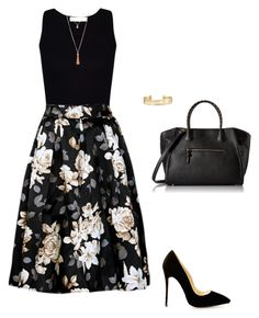 """Untitled #496"" by taylor-edmonds on Polyvore featuring Stella & Dot, ALDO, girly, business, under50 and skirtunder50"