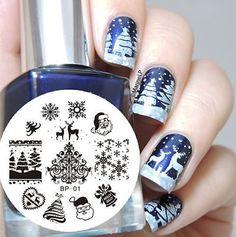 Christmas-XMAS-Nail-Art-Stamp-Stamping-Template-Image-Plate-BORN-PRETTY-BP01
