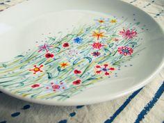 Not only grass - wild flowers - plate