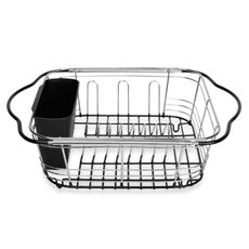 3-In-1 Dish Expandable Drainer with Integrated Handles - Bed Bath & Beyond $16.99. THIS is the ONE! Oh...out of stock on-line. DANG!!!