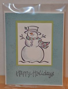 Frosty Christmas by busystampingmom - Cards and Paper Crafts at Splitcoaststampers