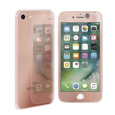 Qosea Rose Gold Front Back Electroplate Mirror Effect 9H Tempered Glass For IPhone 7