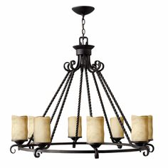 Hinkley Lighting carries many Olde Black Casa Chandeliers light fixtures that can be used to enhance the appearance and lighting of any home.