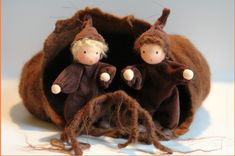 Root children dolls for nature table.