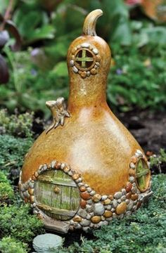 Fairy Garden Gourd-Shaped Fairy Home thinking of a summer craft project for me and braxton