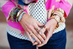 Neon Stripes, Ikat and Polka Dots by Not Dressed As Lamb, via Flickr
