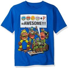 Teenage Mutant Ninja Turtles Little Boys' Tee Shirt, Royal, Large-7 - Brought to you by Avarsha.com