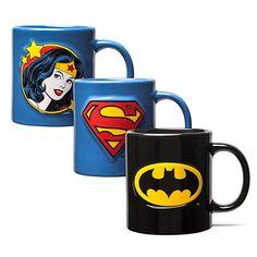 Superhero Embossed insignia 20oz Mugs