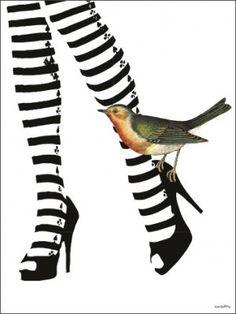 Vanilla Fly Poster - Hot Legs - 30x40 cm in zwarte lijst