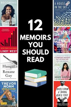 12 MEMOIRS YOU SHOULD READ! Check out my picks for the top 12 memoirs to add to your TBR! From celebrities and chefs to hostages and first ladies, there's a memoir for every reader! #book #books #bookquote #reading #read #memoir #tbr #readinglist #whattoread #memoirs