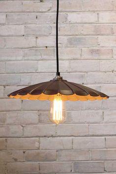 Vintage-Umbrella-Pendant-Light---Painted-rust-finish-with-an-edison-teardrop-bulb