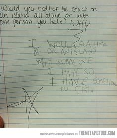 This is one smart kid…