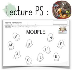 La moufle Activities For Kids, Preschool, Printables, Education, Learning, Ps, Albums, Cycle 1, Galette