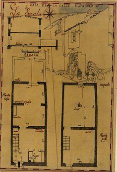 Casa del carrer Matadero núm. 27. L'Escala (Girona). 1942. MMB Sheet Music, Diagram, Spanish Homes, Libros, Music Sheets