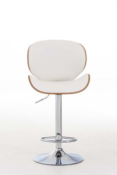 White Faux Leather Bar Stool Modern Wood Metal Kitchen Hotel Cafe Swivel Chair for sale online Leather Bar Stools, Modern Bar Stools, Chairs For Sale, Apartment Design, Swivel Chair, Wood And Metal, Ebay, Kitchen, Home Decor