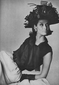 Veronica Hamel for March Vogue 1964  Photo: Irving Penn