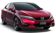 Honda Clarity Fuel Cell is company's newest five-passenger, hydrogen-powered sedan. Honda has just announced it's pricing and plans to lease it to Hydrogen Powered Cars, Hydrogen Car, Honda Crv, Tucson, Soichiro Honda, Toyota, Fuel Cell Cars, Automobile, Car Cost