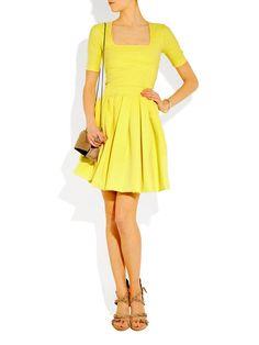 73792723ffe5 Sunny yellow stretch jersey square neckline dress Retail price €1150 Size 36