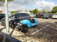 A Morgan Car Seen at the Stanstead service area on the M11 on the 11/04/2014