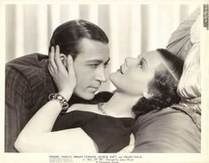 GEORGE RAFT HELEN MACK Original Vintage 1933 ALL OF ME Studio Portrait PHOTO