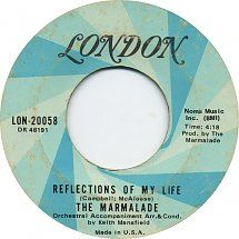 45cat - The Marmalade - Reflections Of My Life / Rollin' My Thing - London - USA - 45-20058 Old Records, Vinyl Records, Fun Music, Record Art, Record Collection, My Memory, Kinds Of Music, Vinyls, Lps