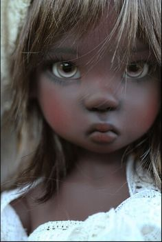 Dark Resin doll by Kaye Wiggs